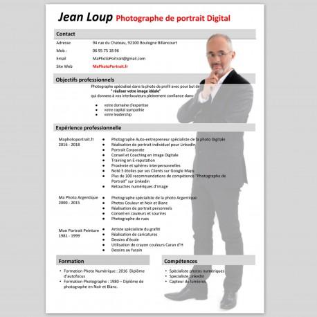 CV différenciant avec photo de plein pied