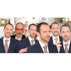 Photomontage de groupe reconstitué