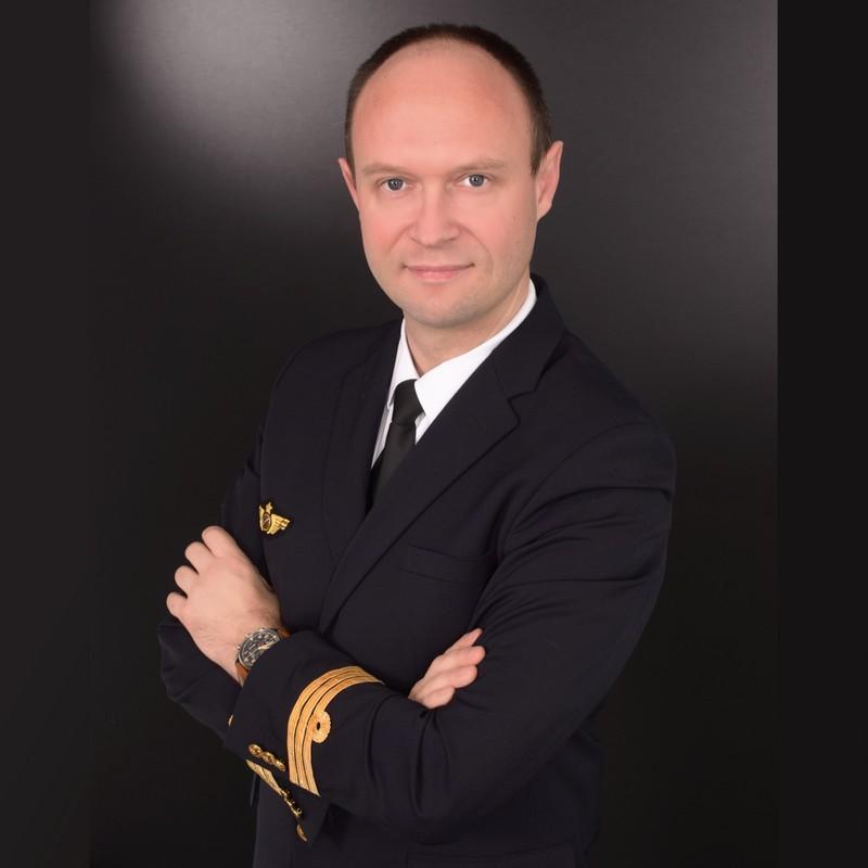 photo professionnelle commandant de bord