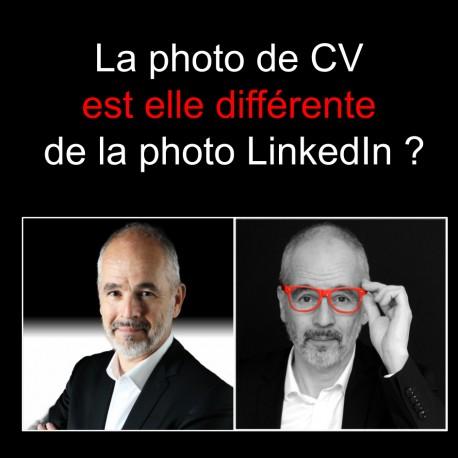 La photo de CV est elle différente de la photo LinkedIn ?