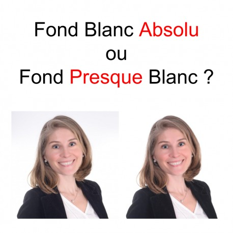 Photo CV Fond Presque Blanc versus Fond Blanc Absolu